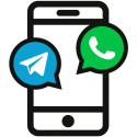WhatzApp-Telegram_Icon